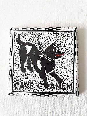 Cave Canem Cave Canem 3 7/8 x 3 7/8 inch ceramic wall tile. Made in Italy