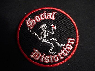 Social Distortion Embroidered Iron-On Patch