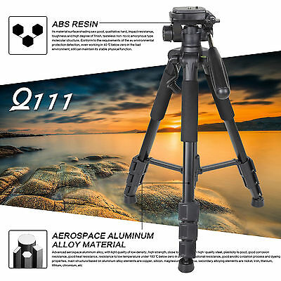 Professional Travel Tripod Pan Head Aluminum Portable For  Camera  ZOMEI Q111 VP