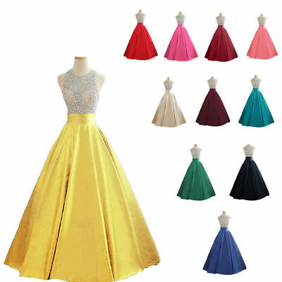Long Prom Dress Sequins Evening Party Bridesmaid Dress Ball Gown Cocktail 6-22+
