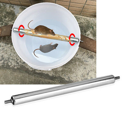 Home Mouse Trap Log Roll Into Bucket Rolling Mice Rat Stick Rodent Spin Trap
