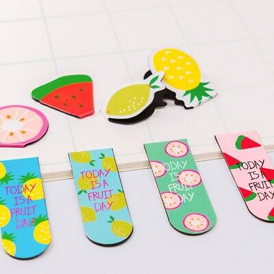 8 Styles Cute Fruit pattern Magnetic Bookmark Book Clip School Office Supplies