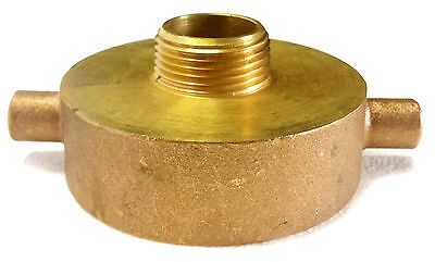 "2-1/2"" Female NST x 1"" Male NPT FIRE HOSE HYDRANT BRASS ADAPTER"