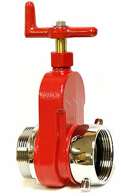 "NNI 2-1/2"" NST NH FIRE HYDRANT HOSE GATE VALVE Polished Chrome Trim"