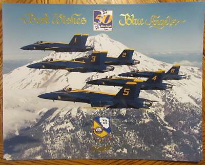 US Navy Blue Angels 1996 50th Anniversary Poster Print