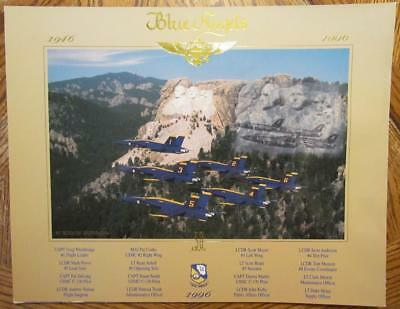 US Navy Blue Angels 1996 50th Anniversary Mt. Rushmore Ghost Poster Print