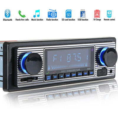 Bluetooth Vehicle MP3 Player USB AUX Car Stereo 1x USB FM Radio In Dash Receiver