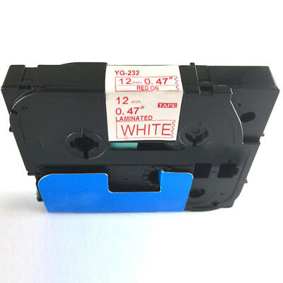 Black on White Label Tape Compatible for Brother TZ 231 TZe 231 P-Touch 9mm New