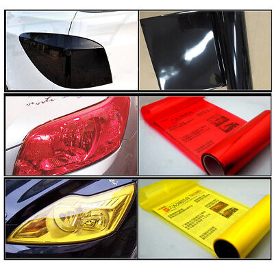 Auto Car Smoke Fog Light Headlight Taillight Tint Vinyl Film Sheet Sticker 30X60