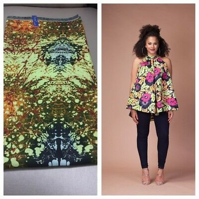 Ankara African Print Halter Neck Multicoloured Summer Top. Size 12