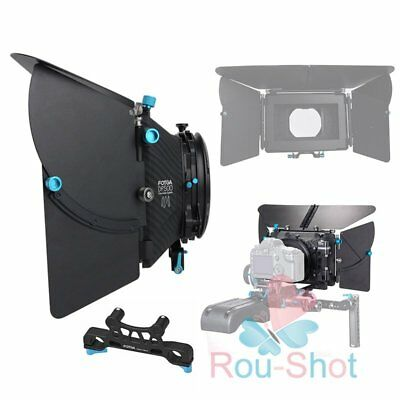 "FOTGA D500 Mark III Professional Matte Box For 15mm 19mm Rod Rig 4x4"" Filter【AU】"