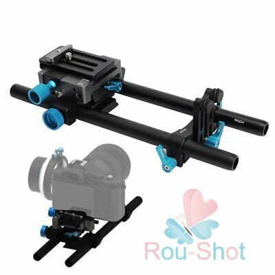 FOTGA DP500III QR 15mm Rod Base Plate Rig for DSLR BMPCC FS700 5DII/III【AU】