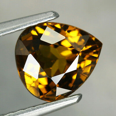 1.76CT. 7.5x6.5mm NATURAL MALI GARNET GLOSSULAR Pear Dark Yellow / S01466