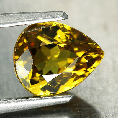 1.6CT. 6x7.5mm NATURAL MALI GARNET GLOSSULAR Pear Yellow Genuine Gem / S01472
