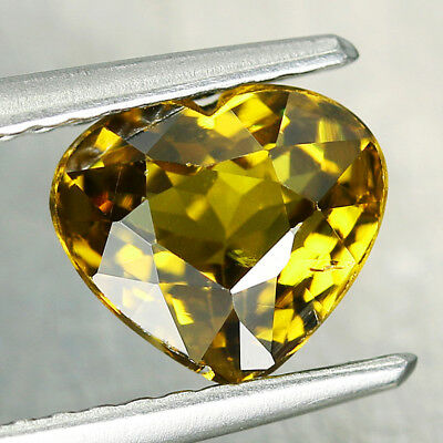 1.57CT. 6x7mm NATURAL MALI GARNET GLOSSULAR Heart Yellow Genuine Gem / S01473