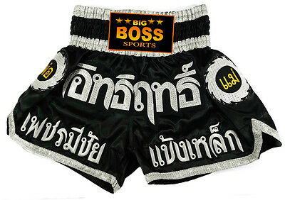 Big Boss Muay Thai, Kickboxen, K1, Thai Kickboxing Kurze Hose Short 100% satin