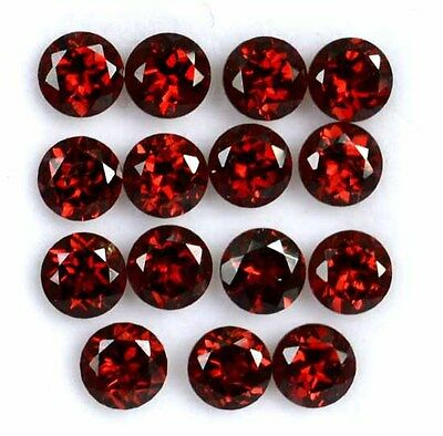 Cartified Aaa 7.06 Ct. 10 Pc Natural Garnet Facet Round 5X5 Mm Loose Gemstone