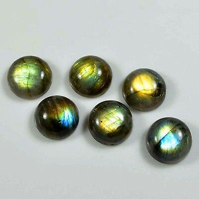 AAA Quality 10 Pc Natural Labradorite 12x12 mm Round Cabochon Loose Gemstone