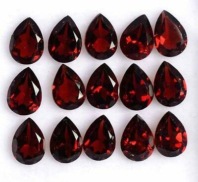 Aaa 9.90 Ct. Calibrate Lot 20 Pc Natural Garnet Facet Pear 4X6 Mm Loose Gemstone