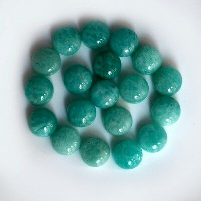 AAA Quality 10 Pc Natural Amazonite 10x10 mm Round Plain Cabochon Loose Gemstone
