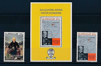 [SU300] Suriname Surinam 1982 Beatification Father Donders Maps set & S/S MNH