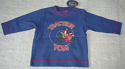 Tee Shirt Manches Longues Tracteur Tom 67- 6 Mois Neuf