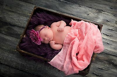 'HOW TO GUIDE' for Newborn Baby Cheese Cloth/wrap Photography photo prop