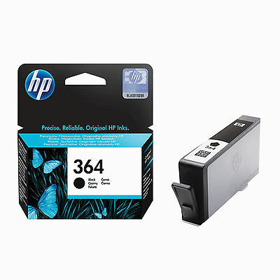 Genuine HP 364 Ink Cartridge Black  5510 5520 6520 7520 B110 CB316EE