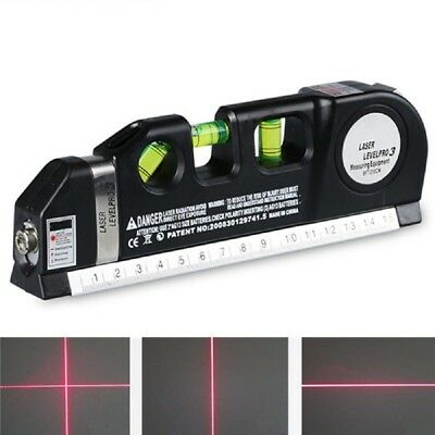 4 in 1 Infrared Laser Level Cross Line Laser 2.5M Measure Multipurpose Hand Tool