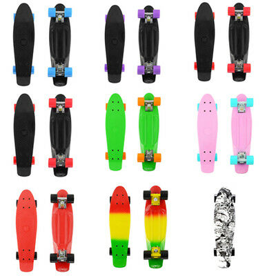 "PHAT® 22"" Skateboard Complete Cruiser Retro Board Deck Plastic Skate Board Gifts"