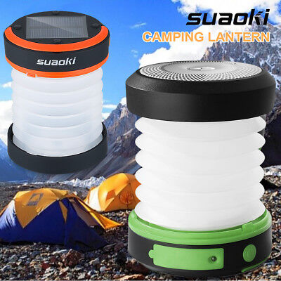 Rechargeable Solar Power LED Lantern Outdoor Camping Night Light Lamp Torch Camp