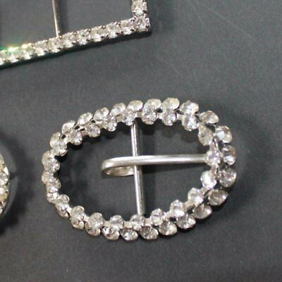Vintage Charming lot of 3 Rhinestone buckles from Austria