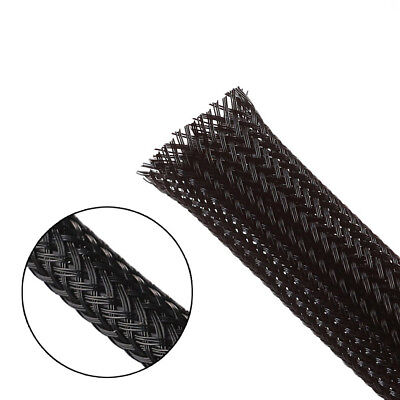 Black Braided Cable Sleeving Sheathing - Auto Wire Harnessing, Marine Electrics