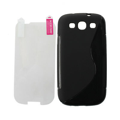 Black Silicone Gel Case Skin Cover For Samsung Galaxy S3 III GT-i9300 WS C5S1