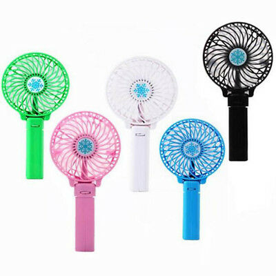 Creative  Hand Fan Portable Fan 1 Pcs Summer Gifts USB Rechargeable Foldable