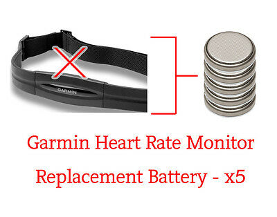 ☑️ Garmin Forerunner Heart Rate Monitor - 5 Replacement Battery - x5