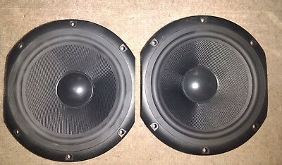 """2x Peerless 185/165mm mid/bass drivers 6.5"""" 8Ohm 80W shielded magnet woofers"""