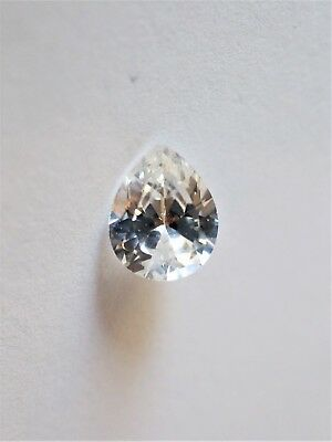 Loose Cubic Zirconia White AAA Pear 10mm x 8mm - Brand New! Bargain Price!