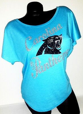 Carolina Panthers Tri-Blend Dolman Vntg Turq.Flawless Top~Add name &# on back$10