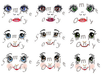 rag doll face transfers, IRON-ON Professional finish, step by step instructions