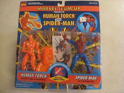 Marvel Team-up - Human Torch and Spider-Man - Kmart Exclusive w/ tattoos 1995