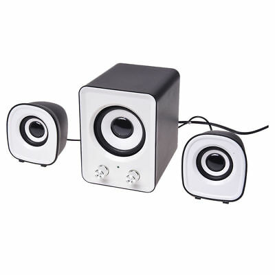 Mini Computer PC Speaker 2.1 Multimedia Stereo Desktop Portable USB Subwoofer