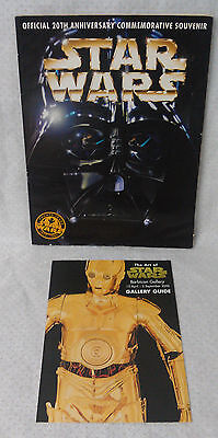 1977-1997 20 year STAR WARS commemorative TOPPS souvenir book variation cover