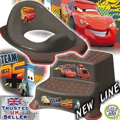 BABY Toddler Toilet Training Seat & Double Step Stool Cars anti-slip NEW EDITION