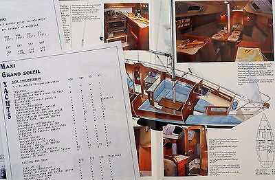 Maxi 999 yacht original brochure & specification sheets 1991