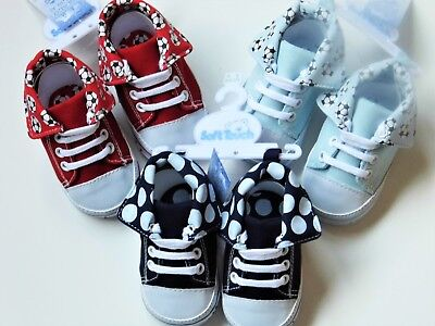 Baby Boy Trainer Type Pram Shoes