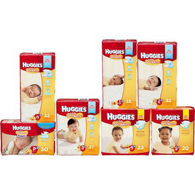HUGGIES Little Snugglers Baby Diapers Size P 1 2 3 4 5 CHEAP!!!