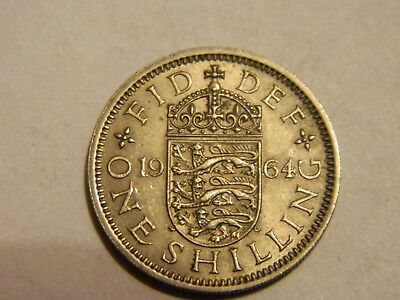 1964 Great Britain One Shilling --- Lot #1368