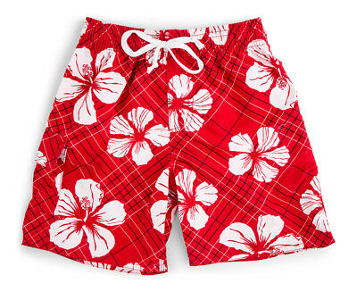 WaveRat Baby/Toddler Boys' Hibiscus Print Boardshort - Fire Red