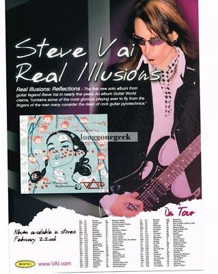 2005 STEVE VAI Real Illusions: Reflections Vtg Album Promo Print Ad